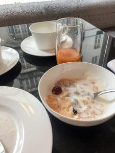 För att vara ett lyxhotell så höll frukosten på Diplomat inte riktigt måttet.
