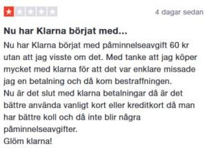 Klarna - trustpilot
