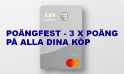 SAS Mastercard 3x poäng